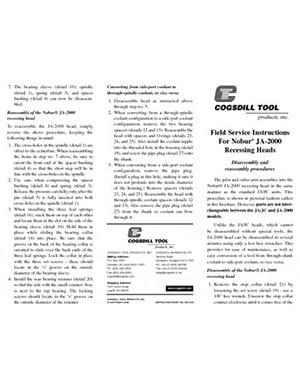 Istruzioni operative Nobur JA 2000